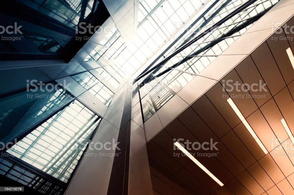 Steel and glass building​​​ foto