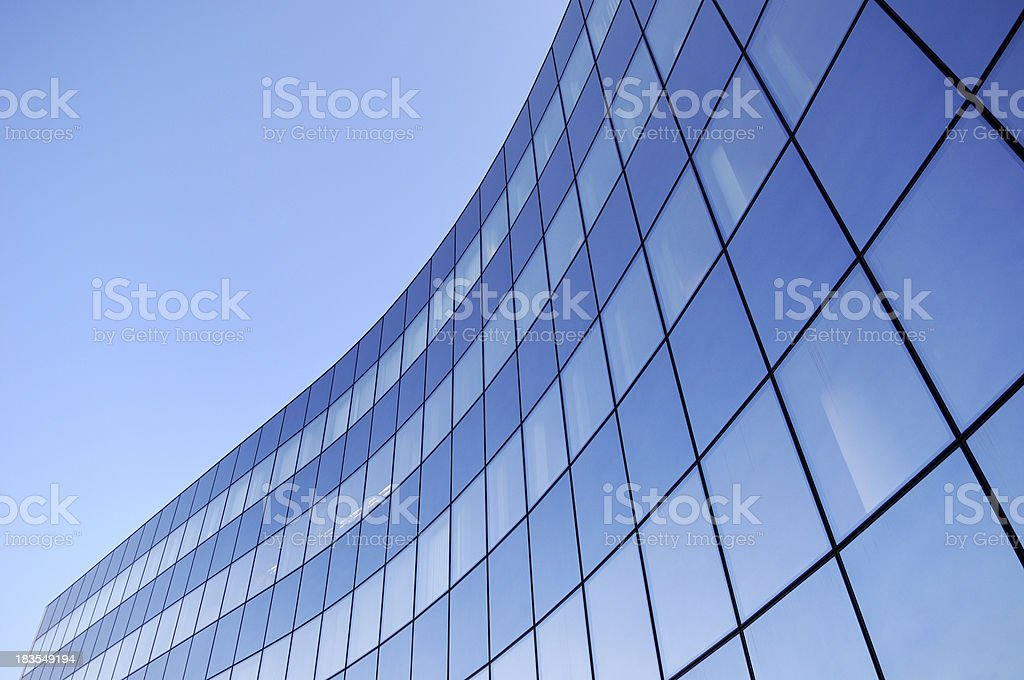 Steel and glass business background stock photo