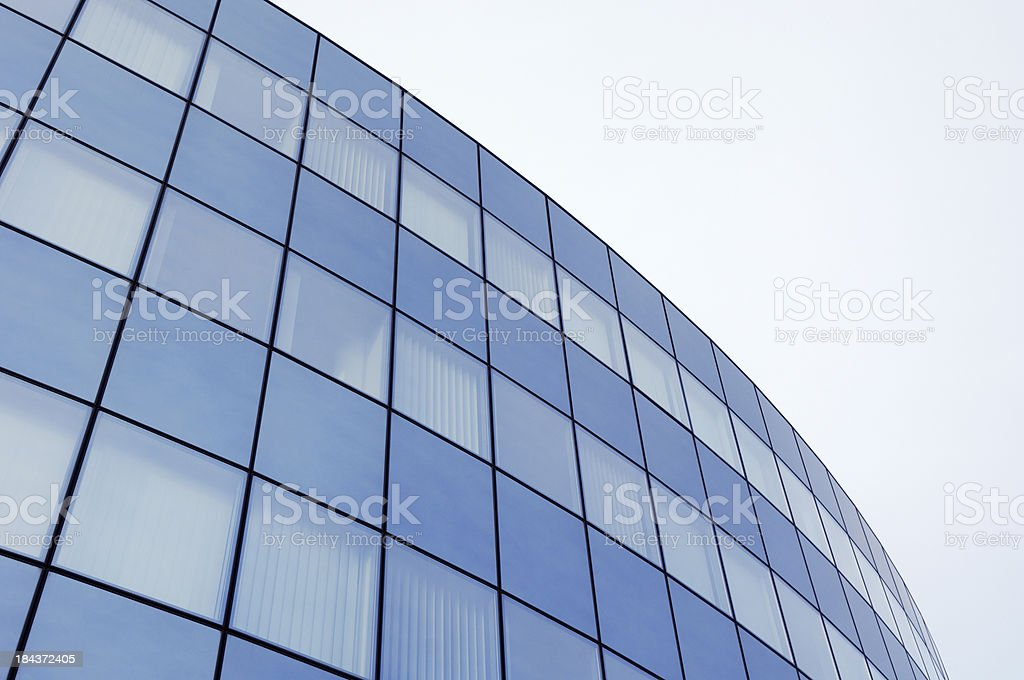 Steel and glass business background royalty-free stock photo