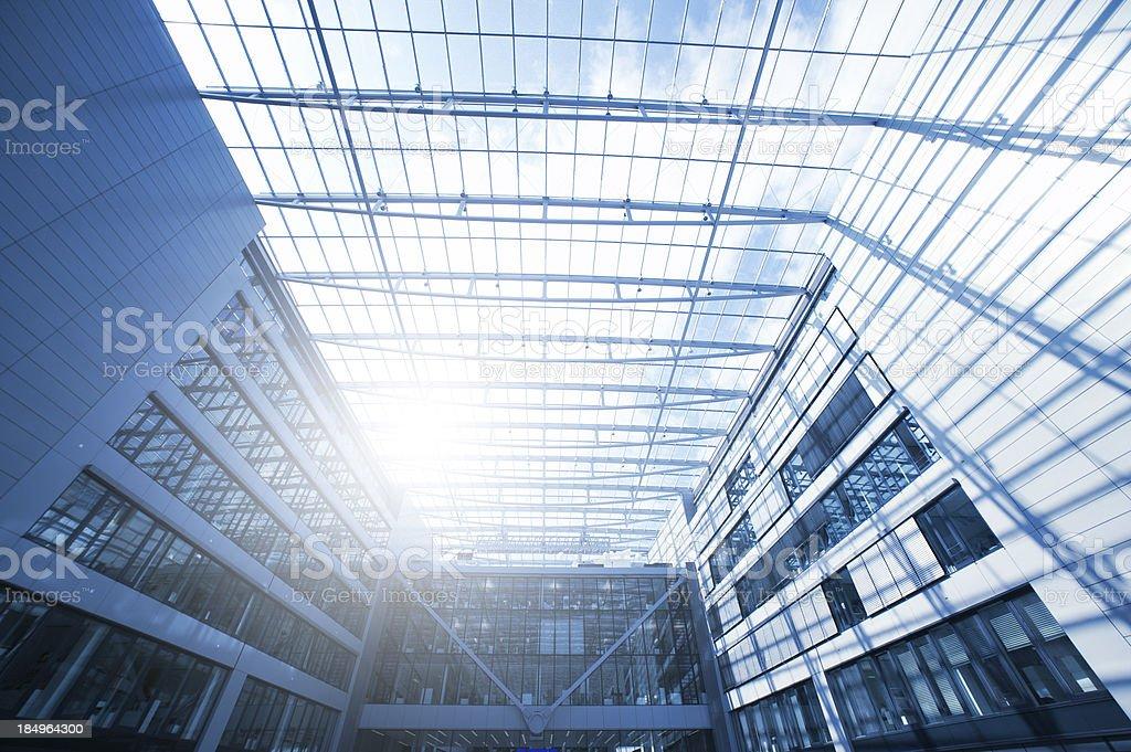 Steel and glass, the squaire, frankfurt airport, Rhein Main Flughafen royalty-free stock photo