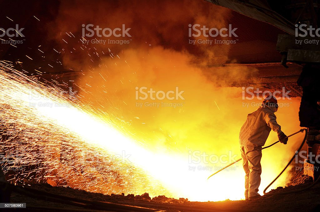 Steel and iron worker stock photo