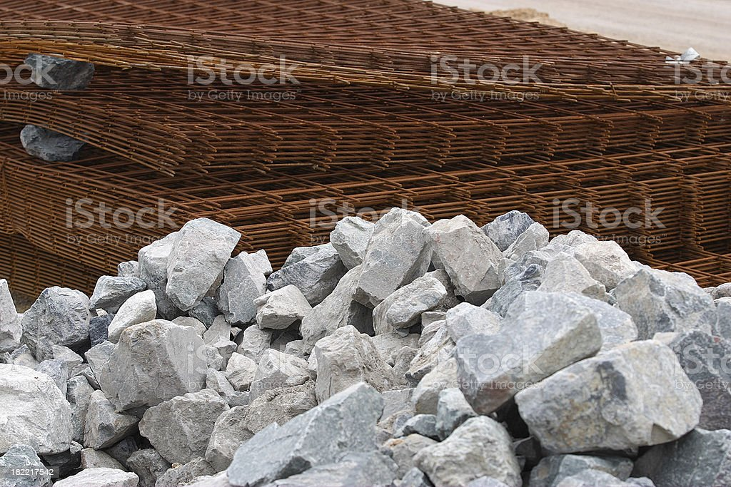 steel and stone stock photo