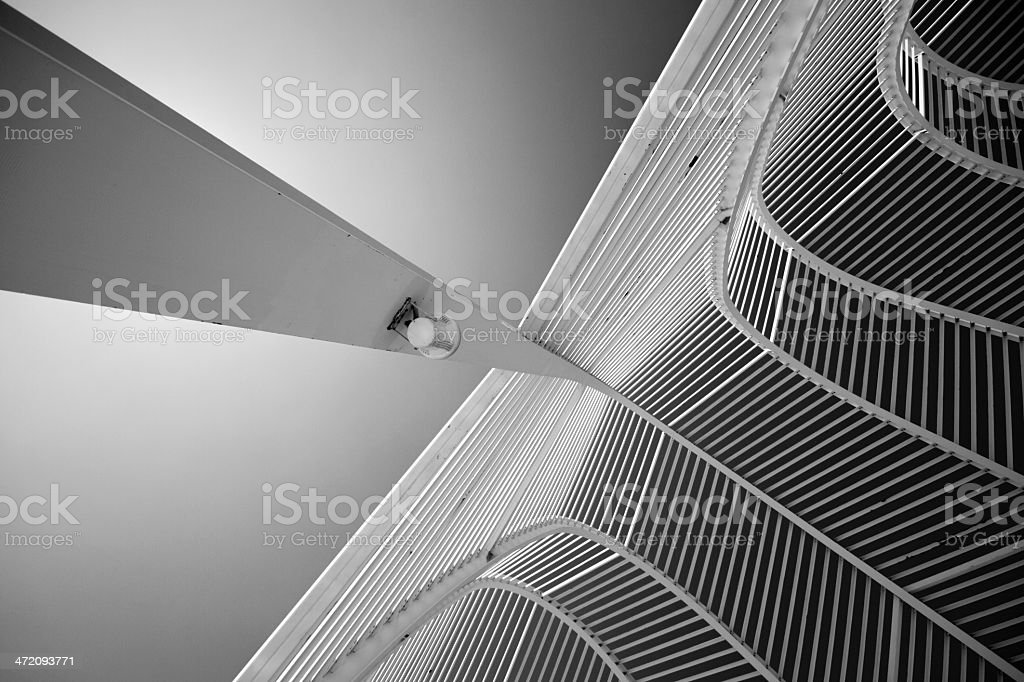 Steel arched royalty-free stock photo