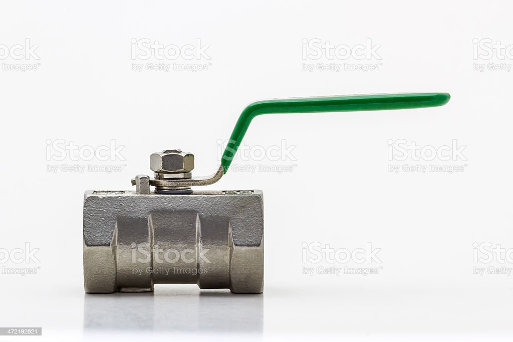 Steel ball valve . stock photo