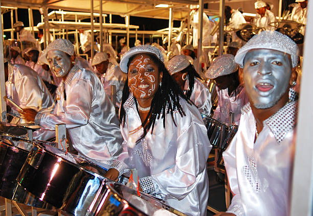 Steel Band playing in Carnival stock photo