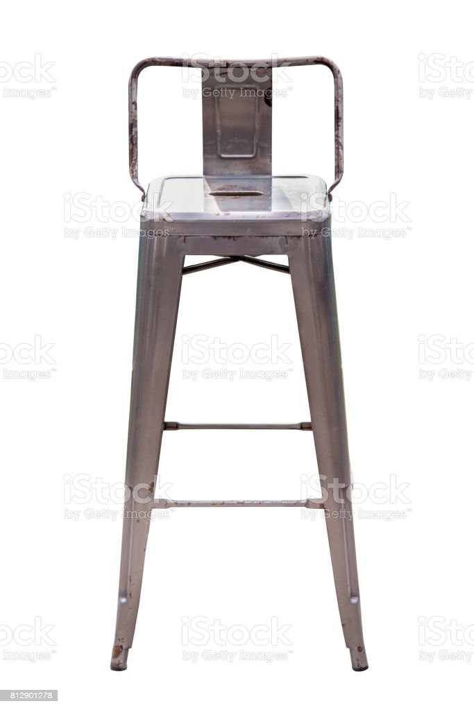 Steel bar chair. stock photo