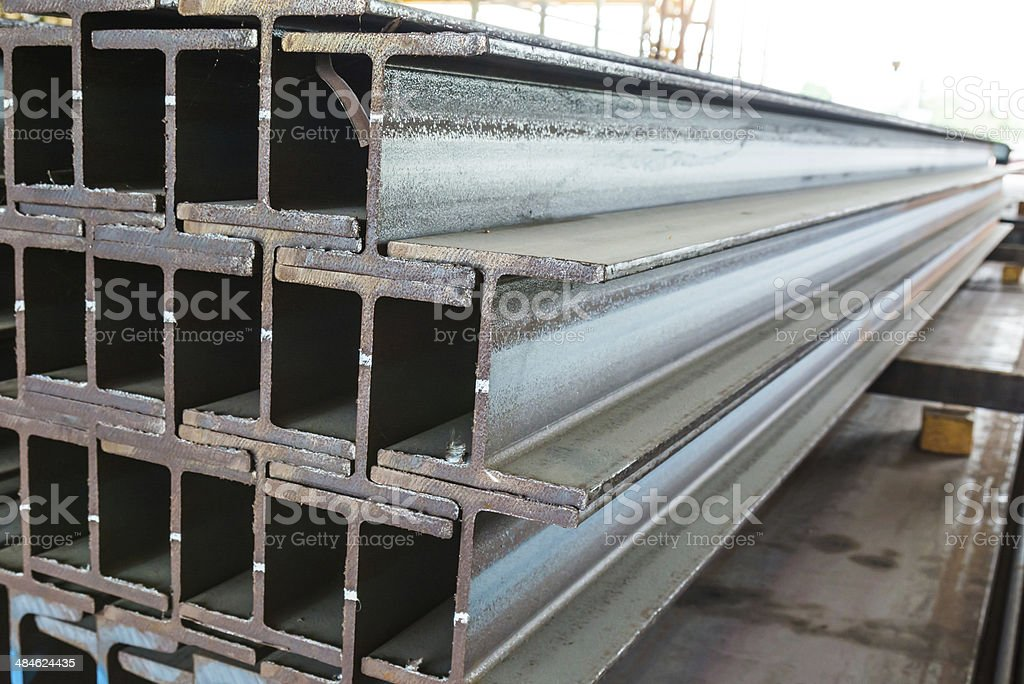 Steel bar for construction stock photo