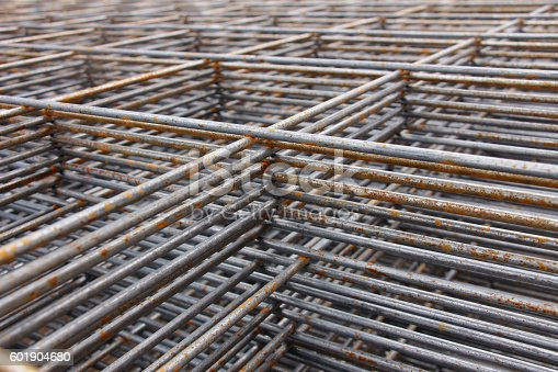 steel bar framework, in the construction site