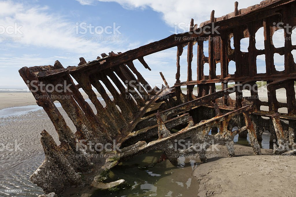steel barge stock photo