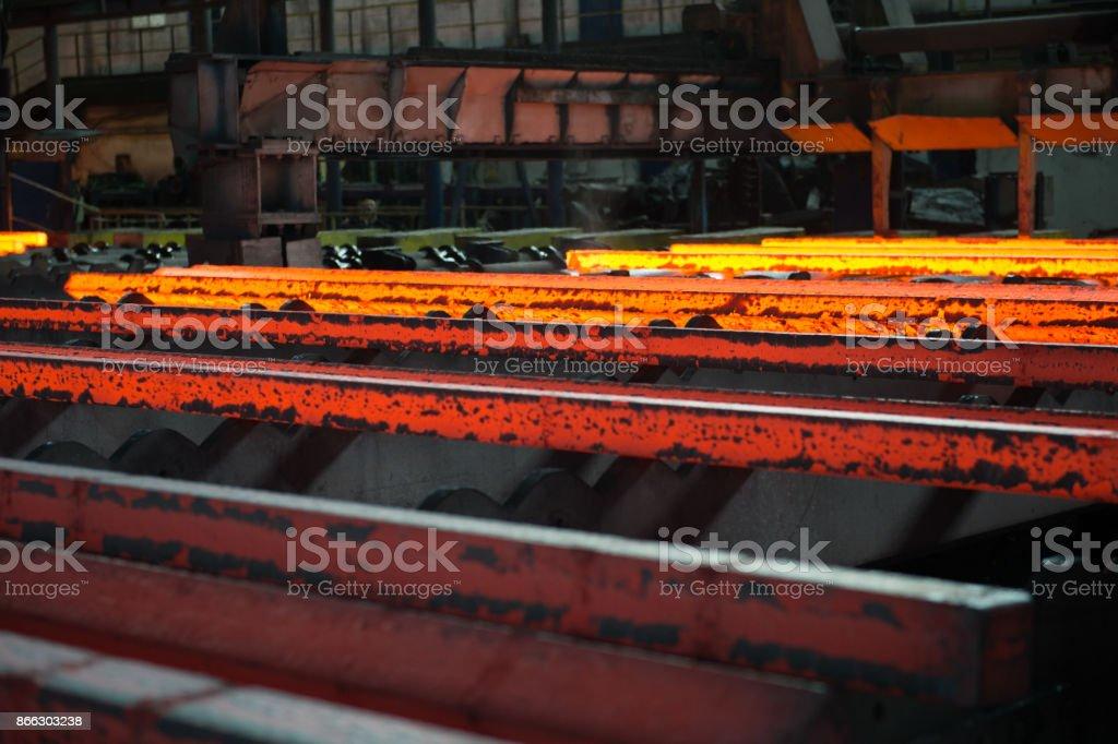 Steel bars before lamination stock photo