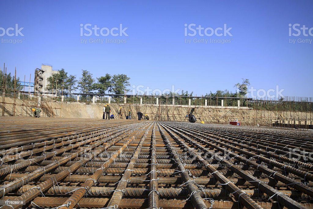 steel bars construction materials royalty-free stock photo