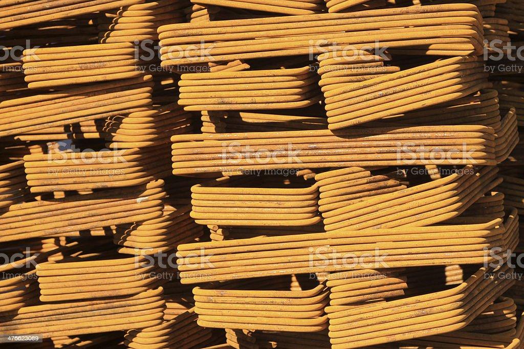 steel bars construction materials royalty-free stock photo