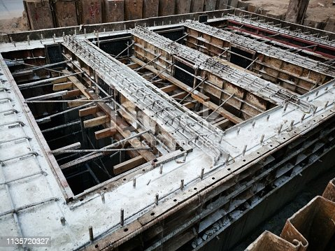 Construction Industry, Concrete, Wire Mesh, Construction Site, Steel