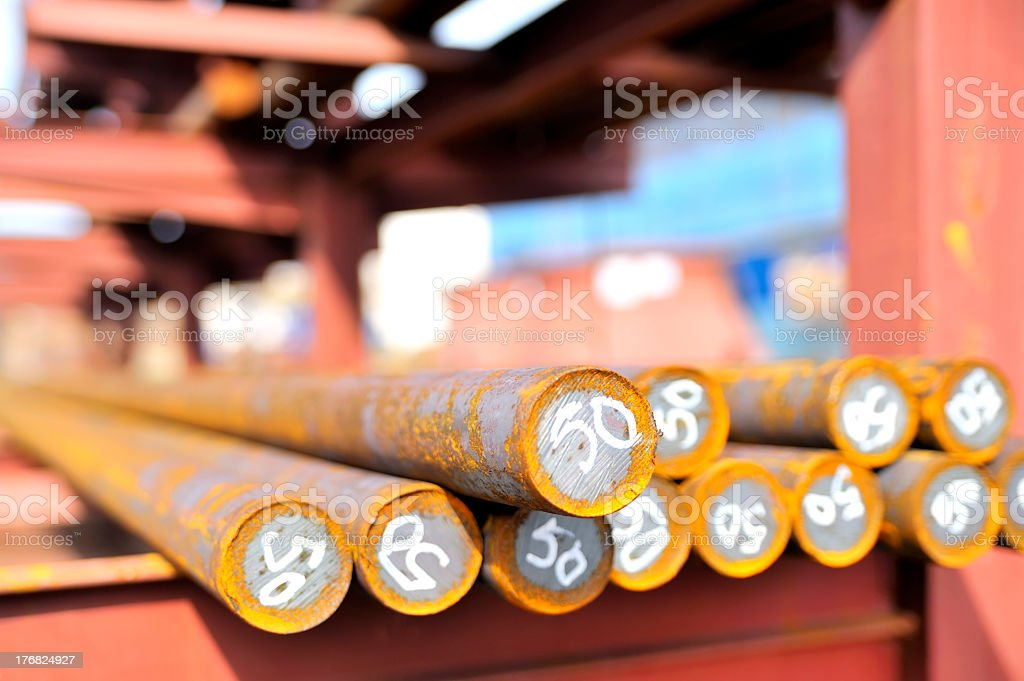 steel bars in a pile royalty-free stock photo
