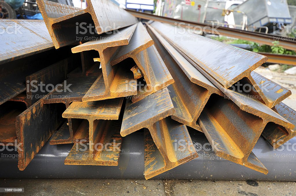 steel beams stock photo