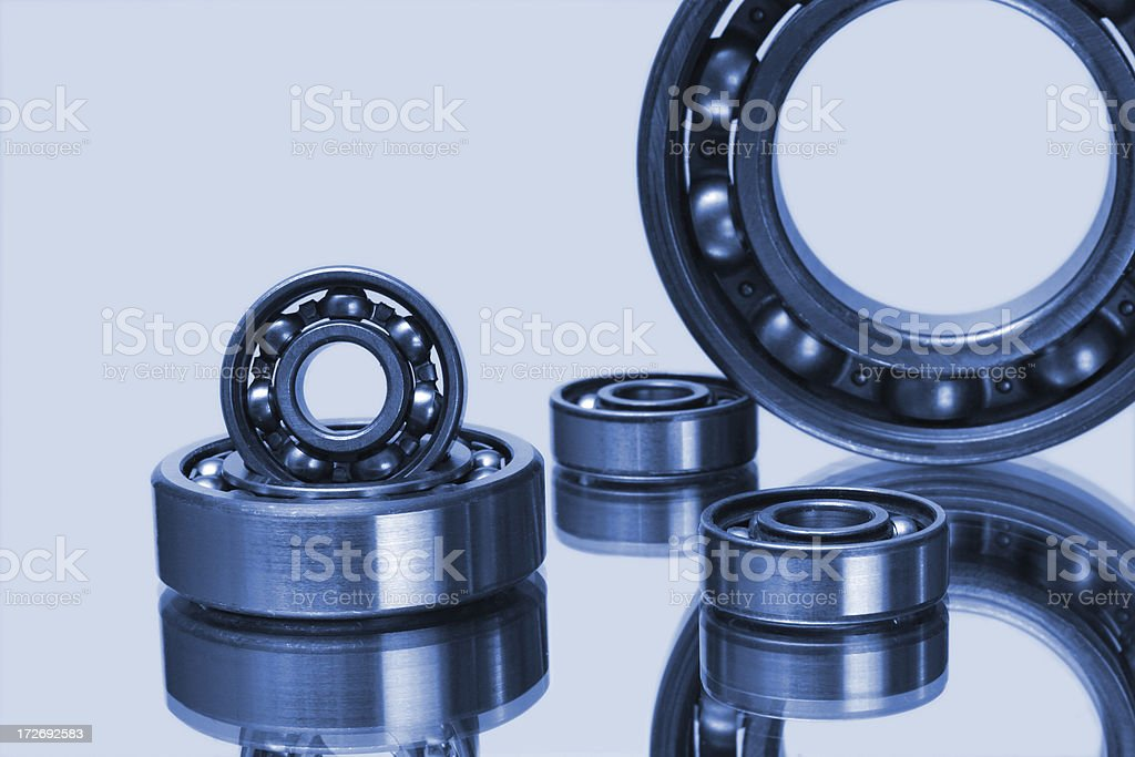 steel bearings and mirror royalty-free stock photo