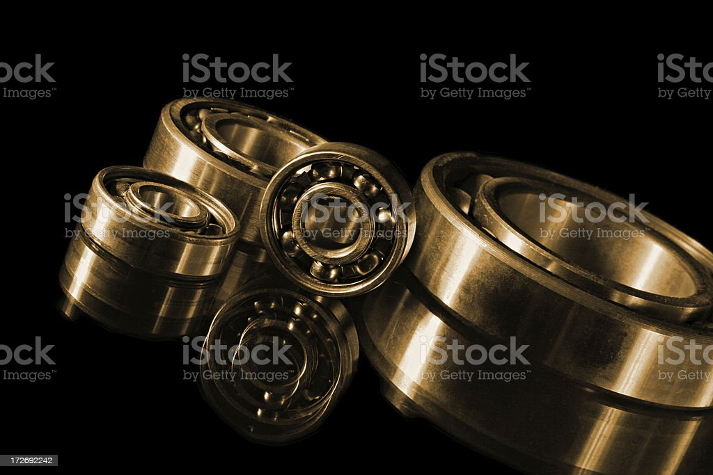 steel bearings royalty-free stock photo