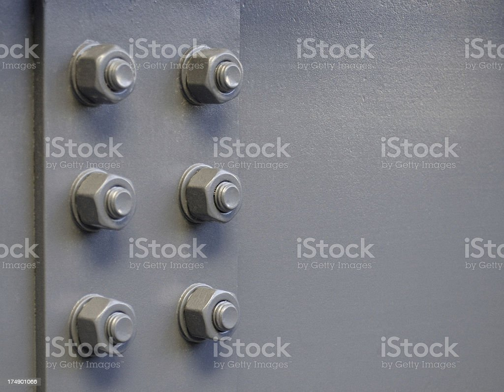 Steel bolts royalty-free stock photo