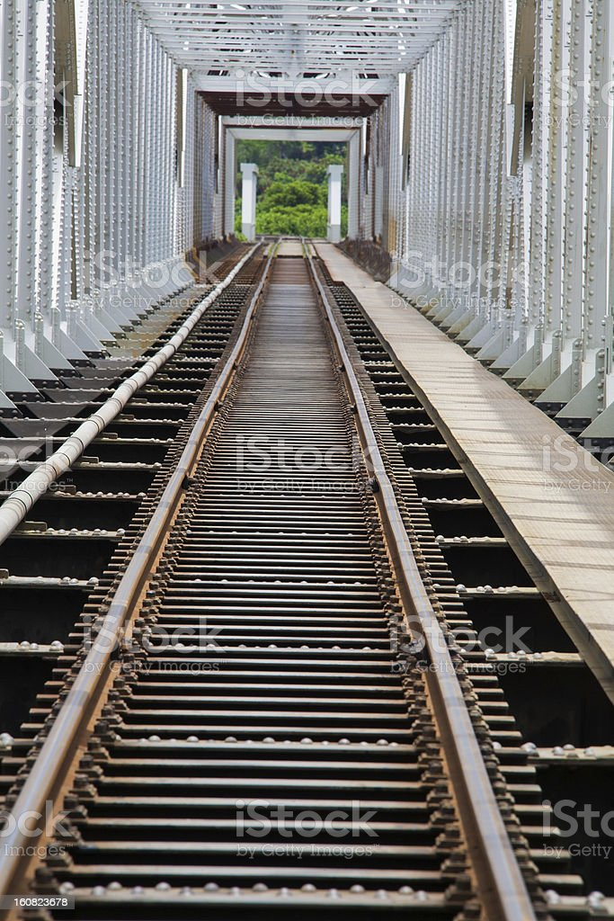 Steel bridge for Train royalty-free stock photo