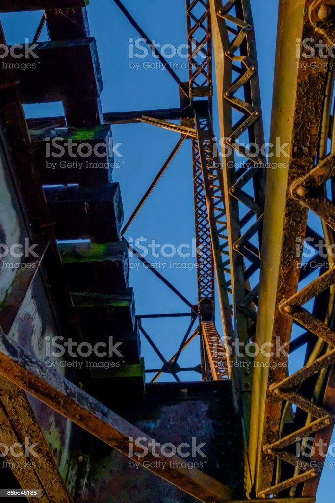 Steel Bridge, Looking Up stock photo