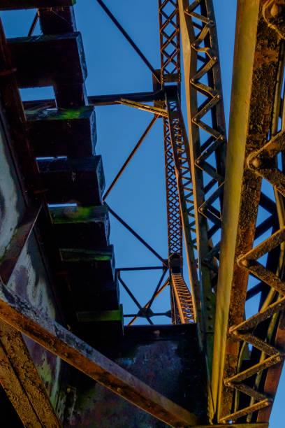 Steel Bridge, Looking Up stock photo