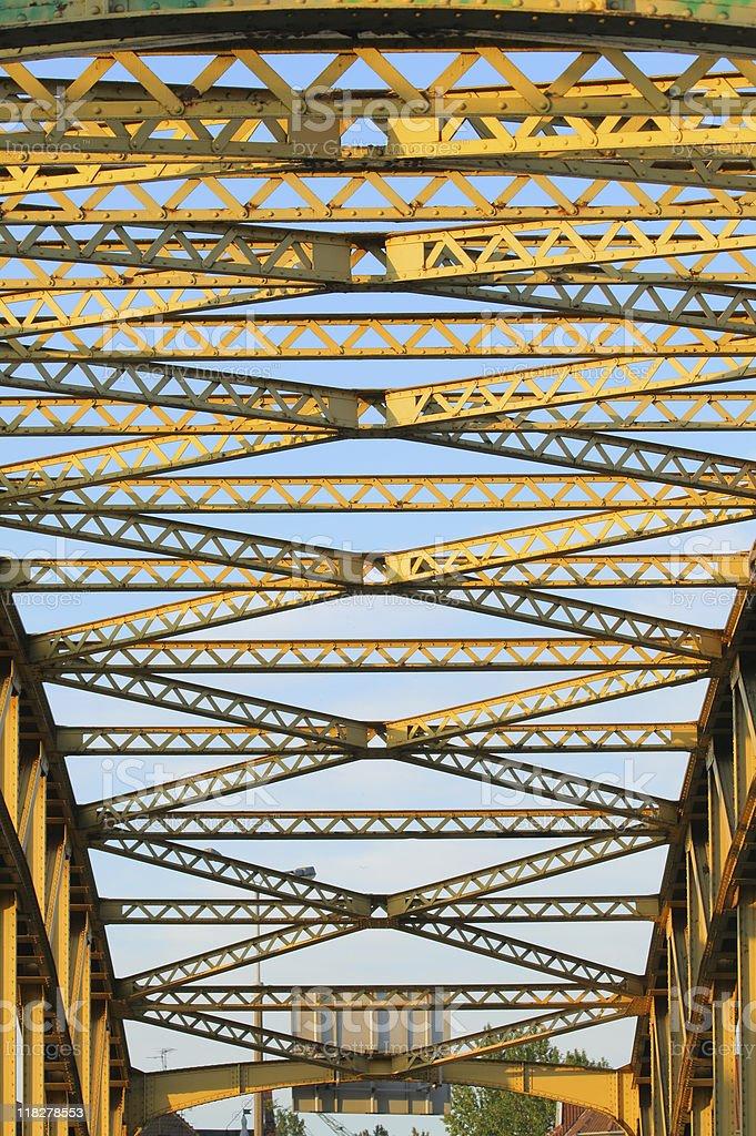 Steel bridge royalty-free stock photo