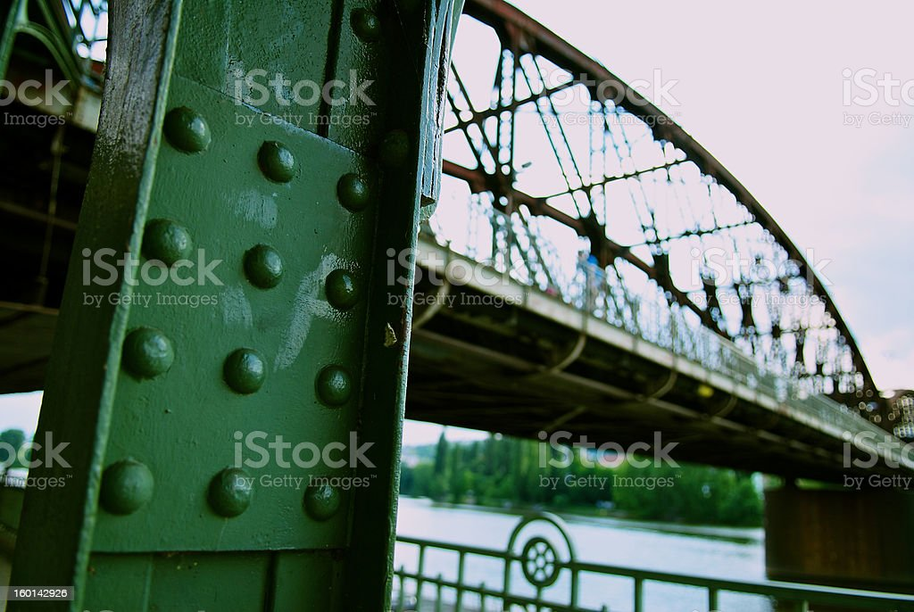 steel bridge stock photo