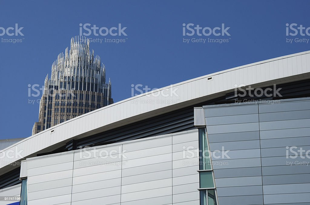 Steel building stock photo