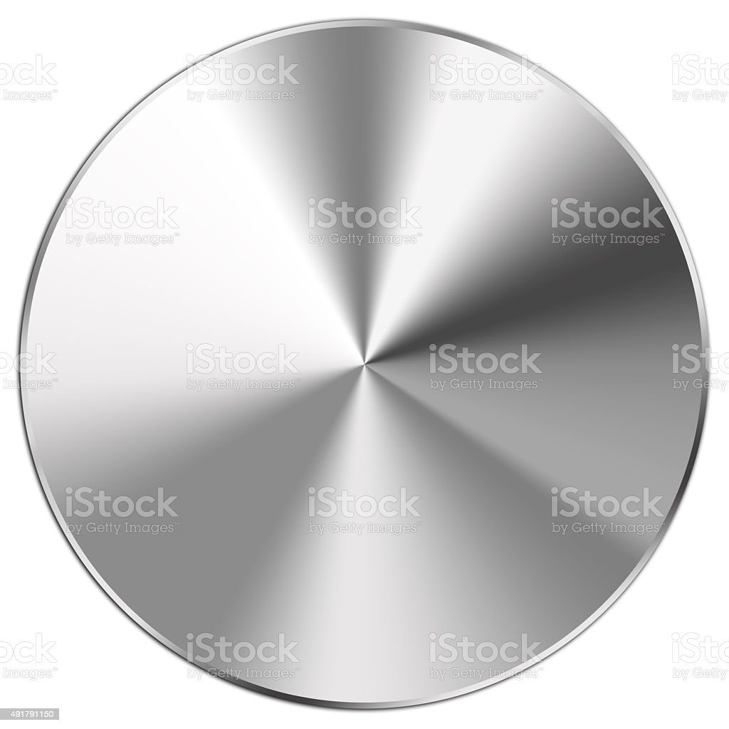 Steel button stock photo