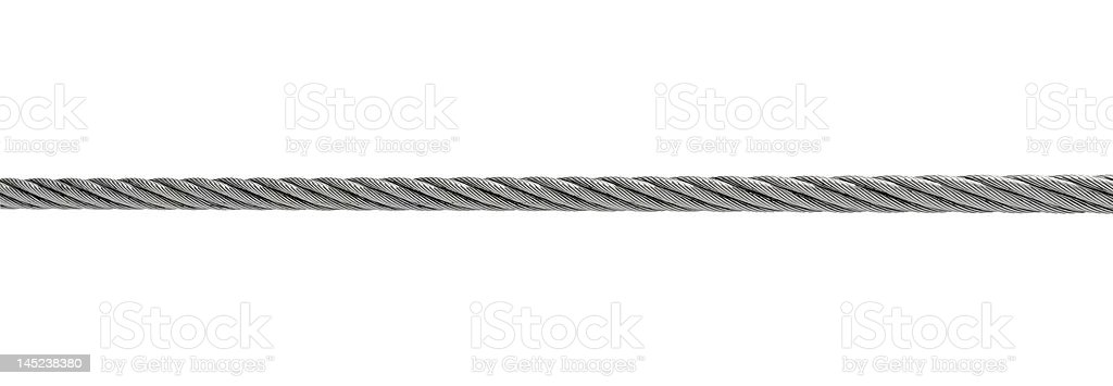 steel cable isolated on white stock photo