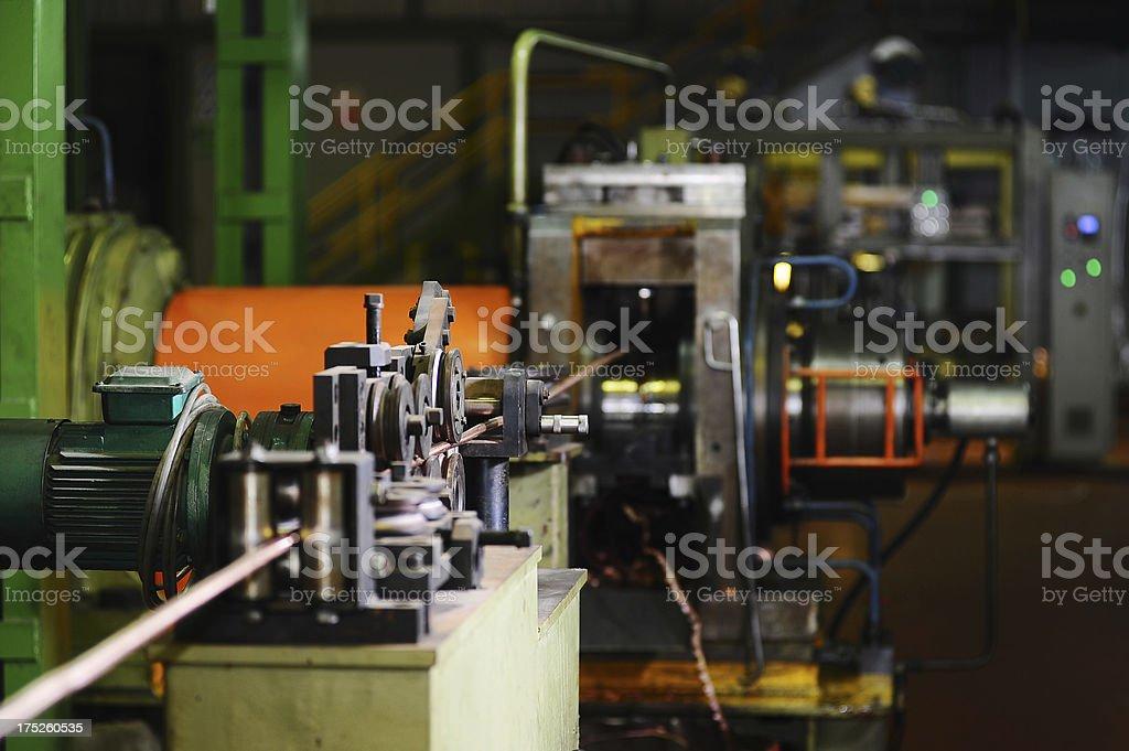 Steel cable machine stock photo
