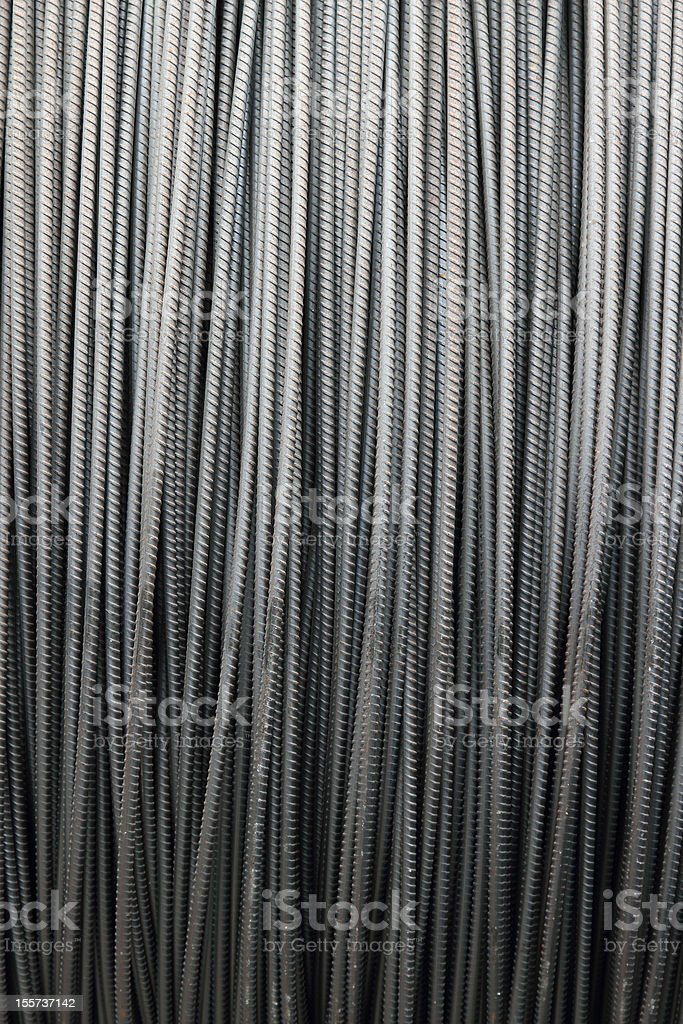 Steel construction rod commonly used to reinforce concrete walls and...