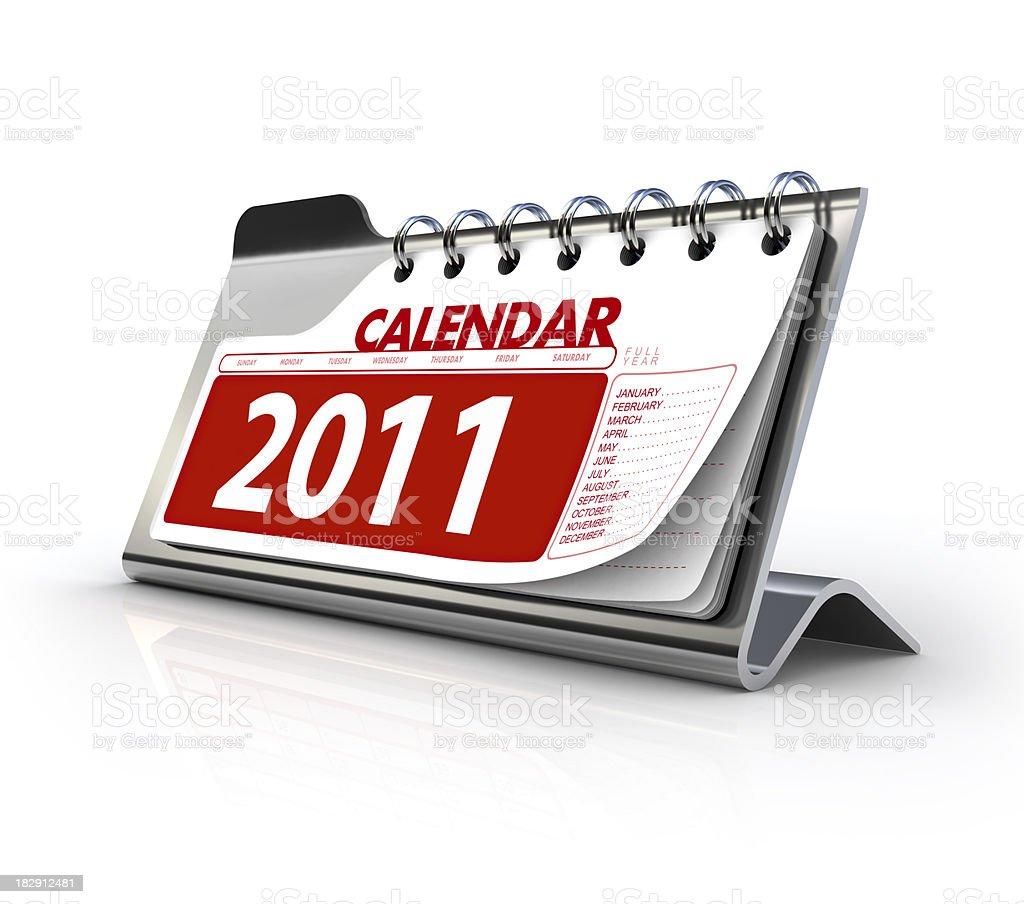 Steel Calendar 2011 royalty-free stock photo