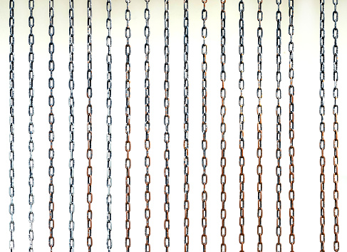 steel chain, on white background; isolated