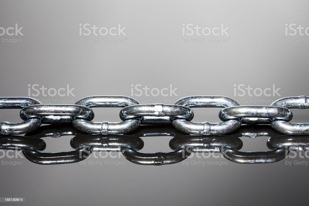 Steel chain stock photo