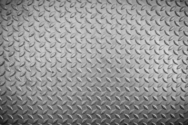 steel checker plate texture and anti-skid., abstract background - diamond plate background stock photos and pictures