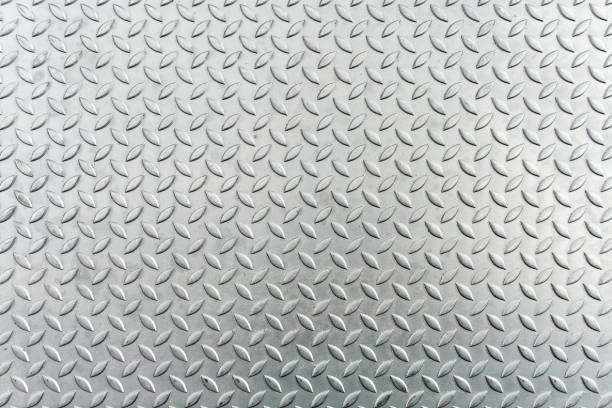 steel checkerplate metal sheet, metal sheet texture background. - diamond plate background stock photos and pictures
