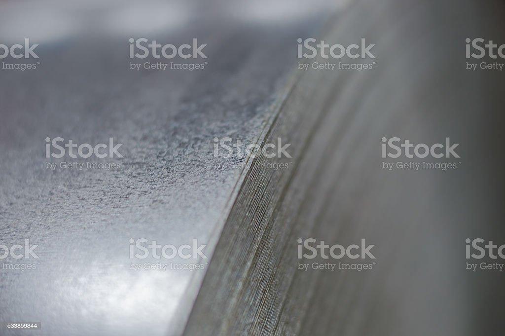 Primer plano de la bobina de acero - foto de stock