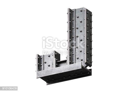 826748544 istock photo Steel construction font 910106428