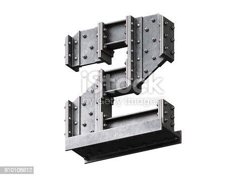 826748544 istock photo Steel construction font 910108612