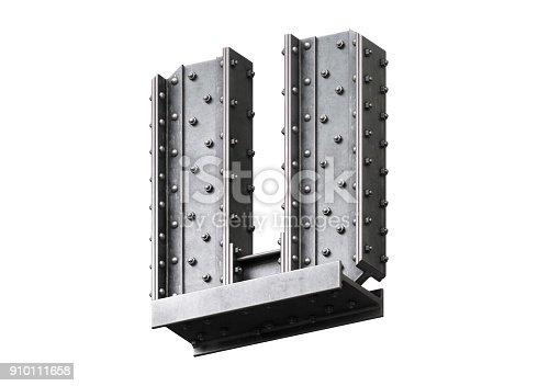 826748544 istock photo Steel construction font 910111658