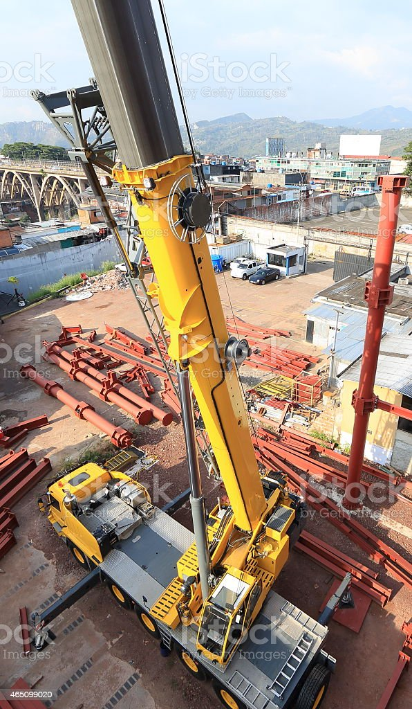Steel Construction Site From Up Above stock photo