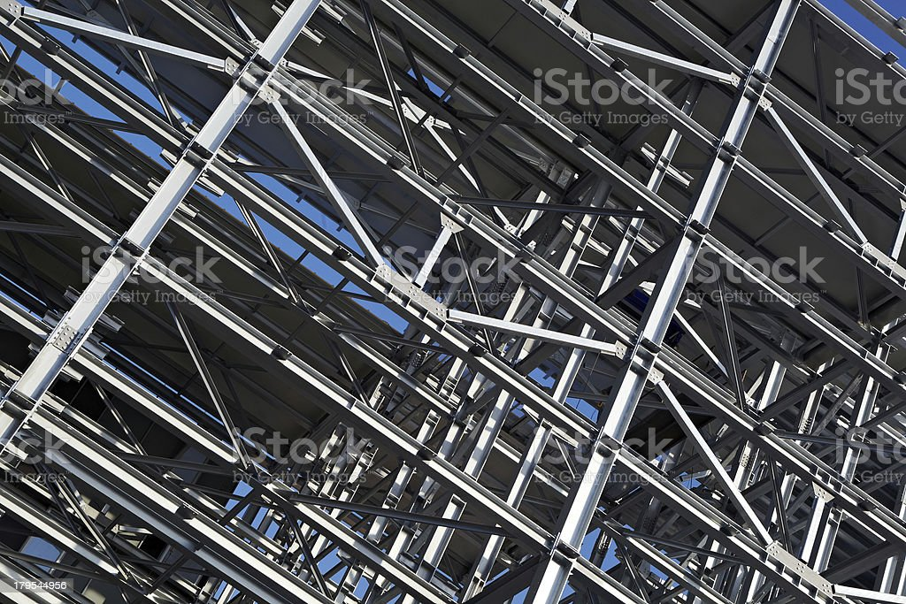 Steel Construction Site royalty-free stock photo