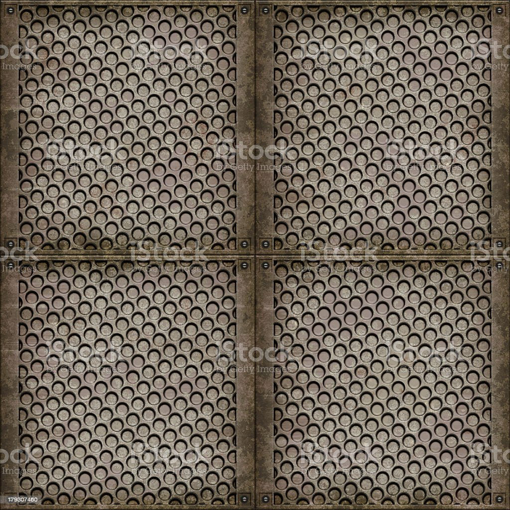 Steel cover (Seamless texture) royalty-free stock photo