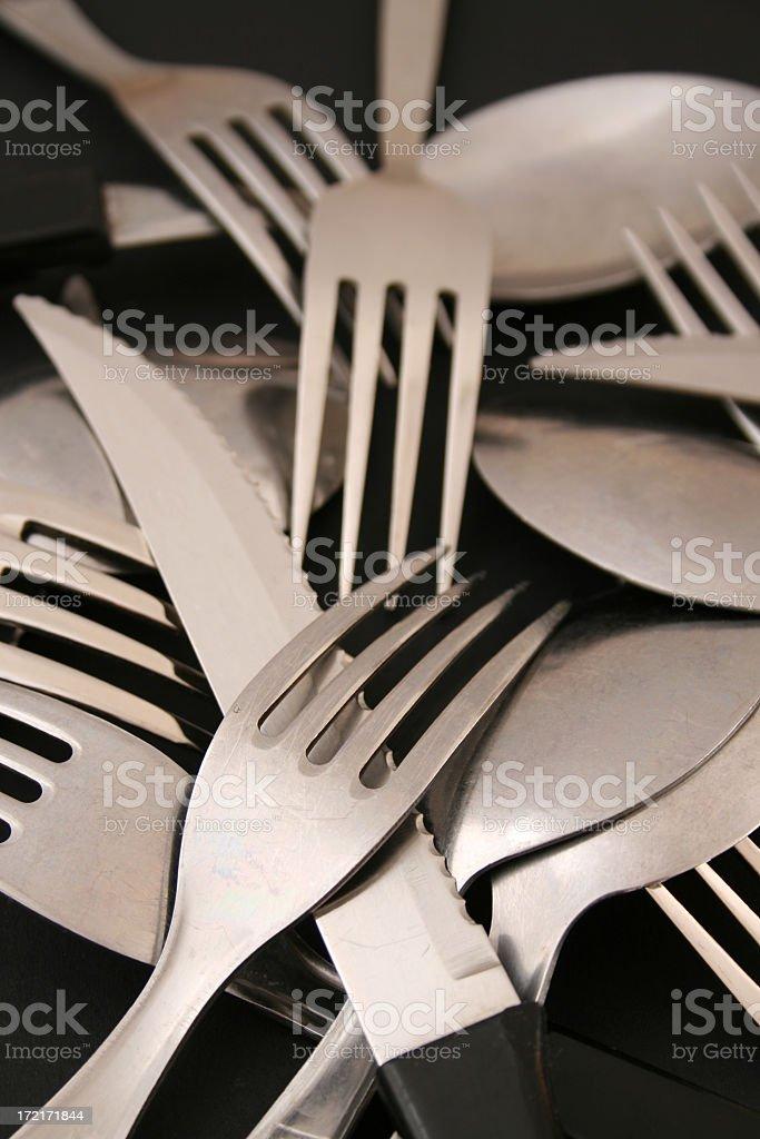 Steel cutlery royalty-free stock photo