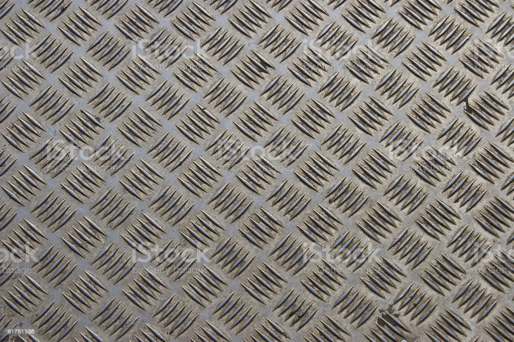 Steel diamond plate background royalty-free stock photo
