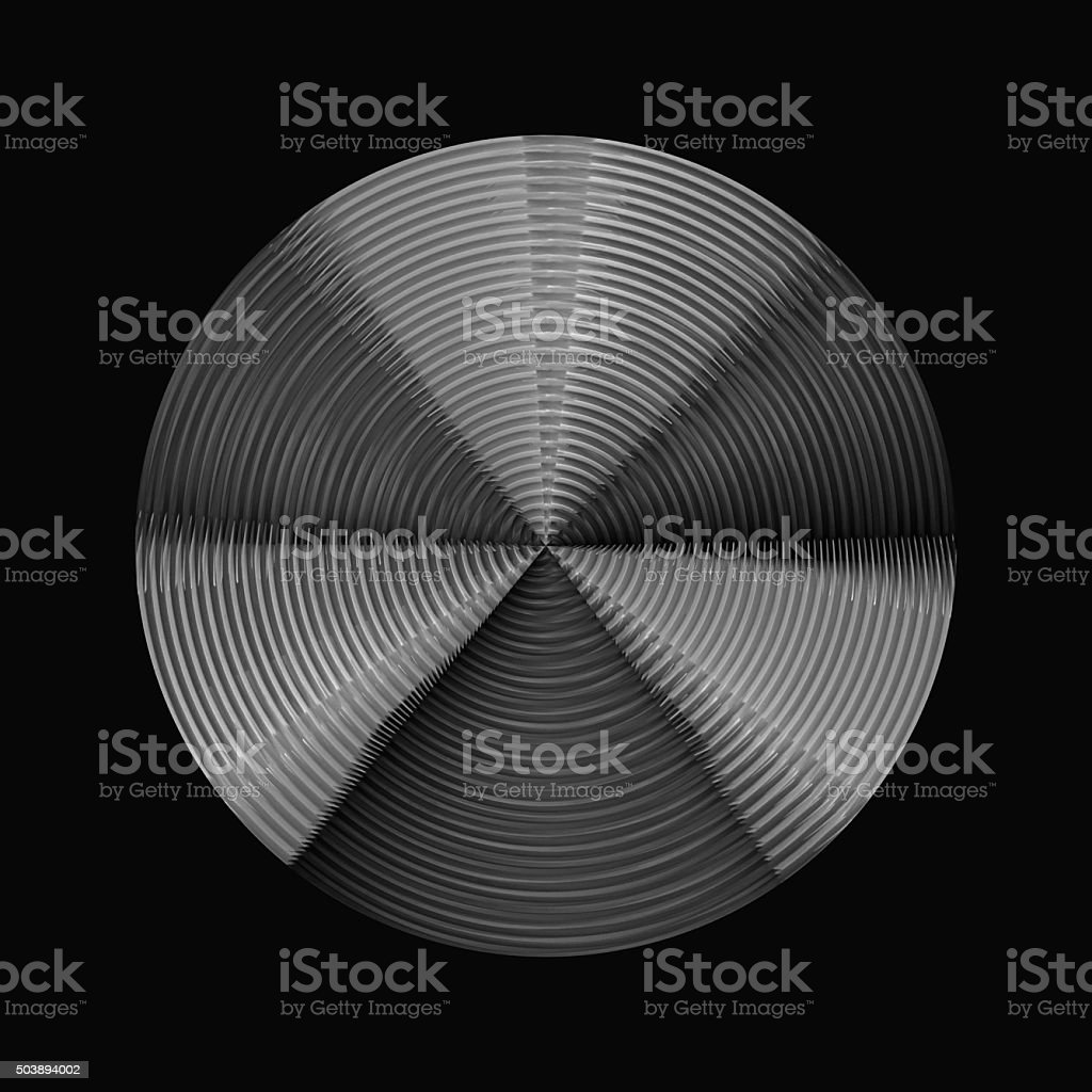 Steel disc, concentric tracks. Master disc for vinyl records duplication stock photo