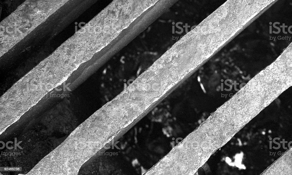 Steel Drain royalty-free stock photo