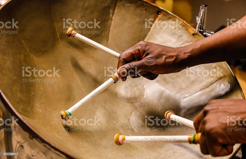 Steel drummmer stock photo