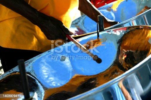 Steel drum player in Antigua.
